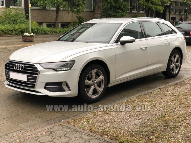 Hire and delivery to Genève Aéroport (GVA) the car Audi A6 40 TDI Quattro Estate