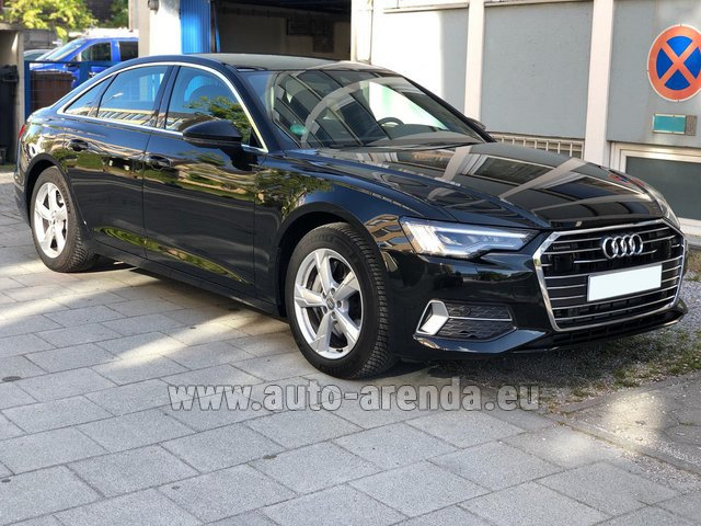 Hire and delivery to Genève Aéroport (GVA) the car Audi A6 45 TDI Quattro
