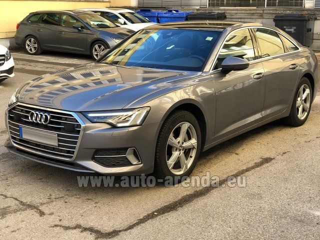 Hire and delivery to Grenoble Isère Aéroport (GNB) the car Audi A6 45 TDI Quattro