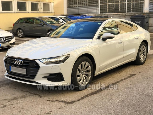 Hire and delivery to Genève Aéroport (GVA) the car Audi A7 50 TDI Quattro