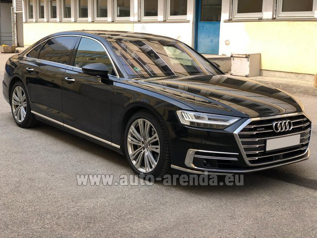 Rental Audi A8 Long 50 TDI Quattro in Courchevel