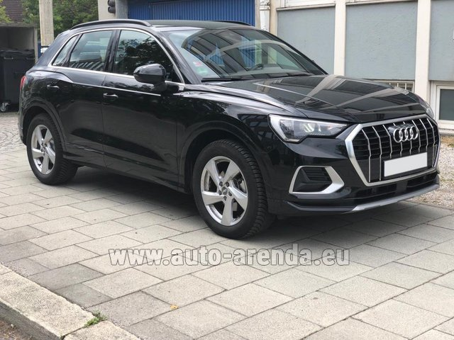 Hire and delivery to Genève Aéroport (GVA) the car Audi Q3 35 TFSI Quattro