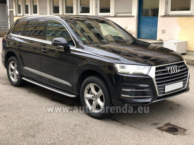 Hire and delivery to Genève Aéroport (GVA) the car Audi Q7 50 TDI Quattro 5-7 seats