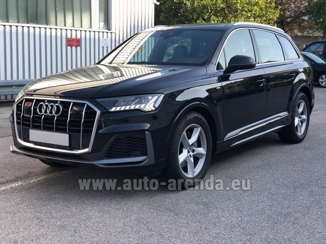 Hire and delivery to Genève Aéroport (GVA) the car Audi Q7 50 TDI Quattro Equipment S-Line (5 seats)