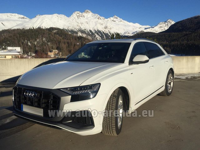 Hire and delivery to Genève Aéroport (GVA) the car Audi Q8 50 TDI Quattro