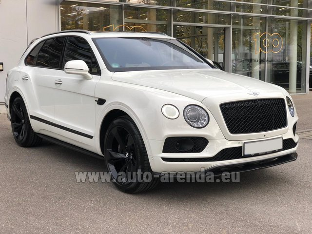 Hire and delivery to Aéroport Lyon-Saint Exupéry (LYS) the car Bentley Bentayga 6.0 litre twin turbo TSI W12