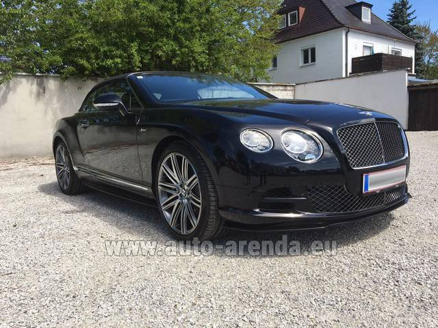 Hire and delivery to Grenoble Isère Aéroport (GNB) the car Bentley Continental GTC V12-Speed