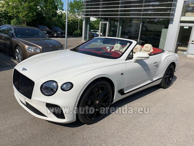 Hire and delivery to Grenoble Isère Aéroport (GNB) the car Bentley GTC W12 First Edition 2019