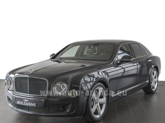 Hire and delivery to Aéroport Lyon-Saint Exupéry (LYS) the car Bentley Mulsanne Speed V12