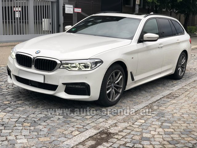 Hire and delivery to Grenoble Isère Aéroport (GNB) the car BMW 520d xDrive Touring M equipment