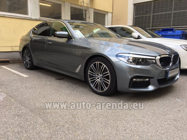 Rental BMW 540i M in Courchevel