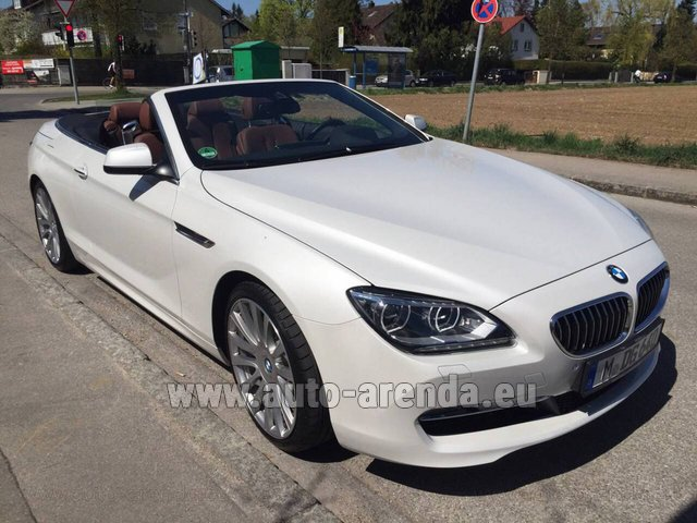 Hire and delivery to Grenoble Isère Aéroport (GNB) the car BMW 640 Cabrio Equipment M-Sportpaket