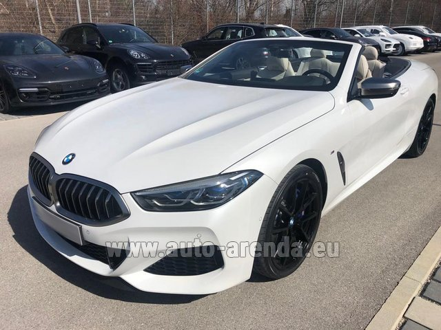 Hire and delivery to Grenoble Isère Aéroport (GNB) the car BMW M850i xDrive Cabrio