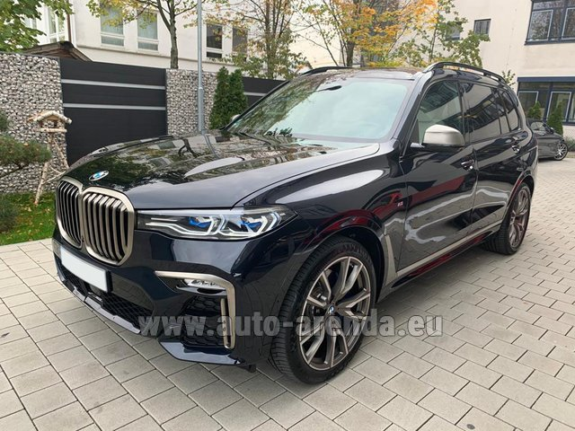 Rental BMW X7 M50d in Courchevel