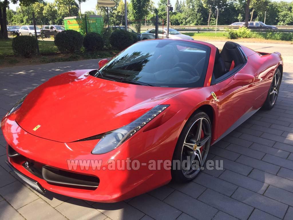 Rent The Ferrari 458 Italia Spider Cabrio Red Car In Courchevel