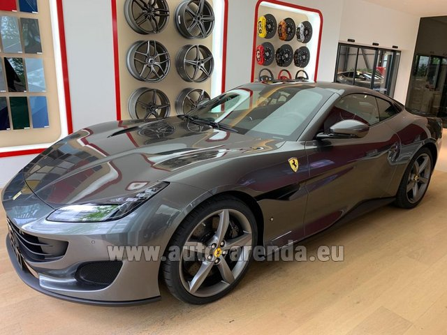 Hire and delivery to Aéroport Lyon-Saint Exupéry (LYS) the car Ferrari Portofino