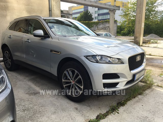 Hire and delivery to Genève Aéroport (GVA) the car Jaguar F-Pace