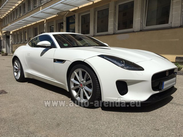 Hire and delivery to Genève Aéroport (GVA) the car Jaguar F-Type 3.0 Coupe