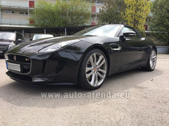 Hire and delivery to Grenoble Isère Aéroport (GNB) the car Jaguar F Type 3.0L