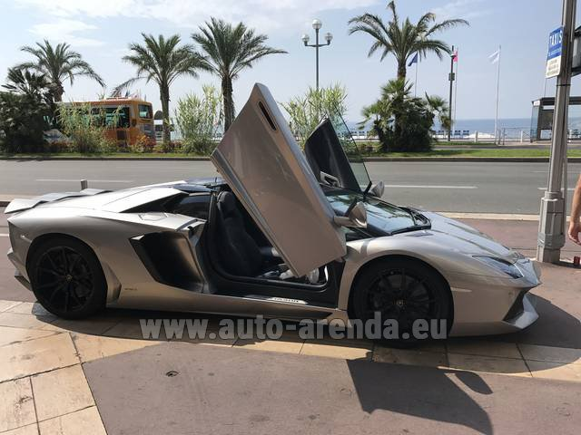 Hire and delivery to Aéroport Lyon-Saint Exupéry (LYS) the car Lamborghini Aventador LP 700-4
