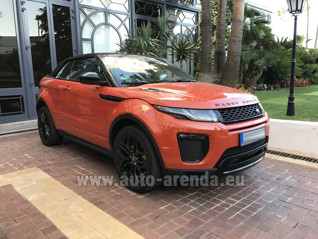 Hire and delivery to Genève Aéroport (GVA) the car Land Rover Range Rover Evoque HSE Cabrio SD4