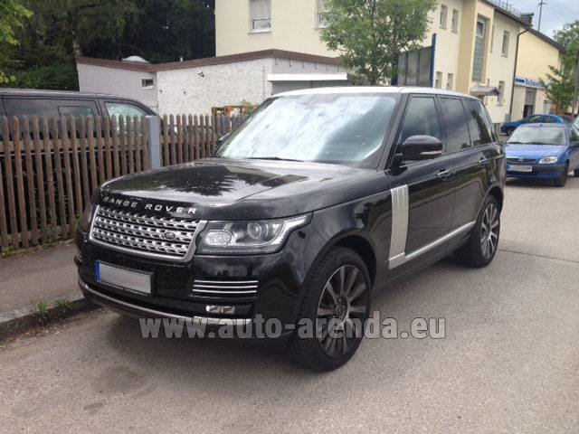 Hire and delivery to Genève Aéroport (GVA) the car Land Rover Range Rover SDV8 Autobiography
