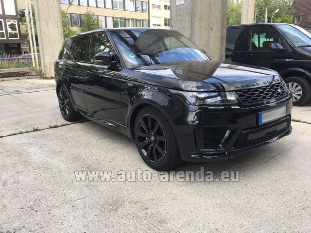 Hire and delivery to Genève Aéroport (GVA) the car Land Rover Range Rover SPORT