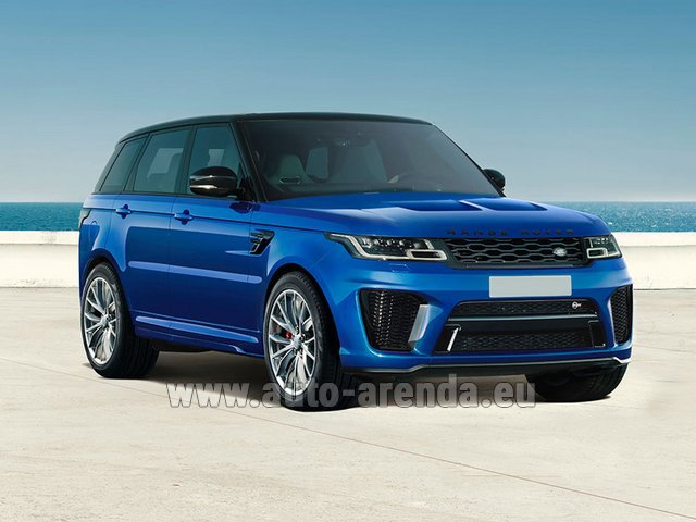 Hire and delivery to Genève Aéroport (GVA) the car Land Rover Range Rover Sport SVR V8