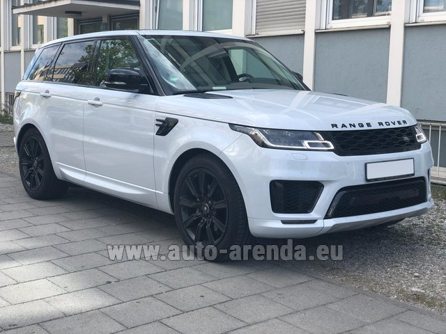 Hire and delivery to Genève Aéroport (GVA) the car Land Rover Range Rover Sport White