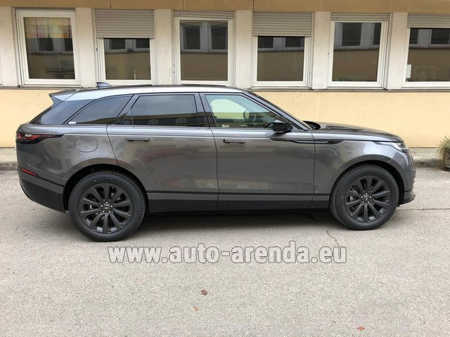Hire and delivery to Genève Aéroport (GVA) the car Land Rover Range Rover Velar P250 SE