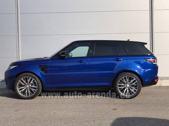 Hire and delivery to Genève Aéroport (GVA) the car Land Rover Range Sport SVR V8
