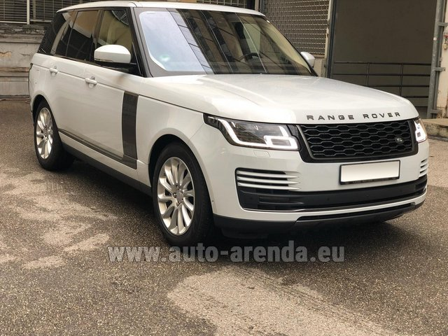 Hire and delivery to Genève Aéroport (GVA) the car Land Rover Range Rover Vogue P525