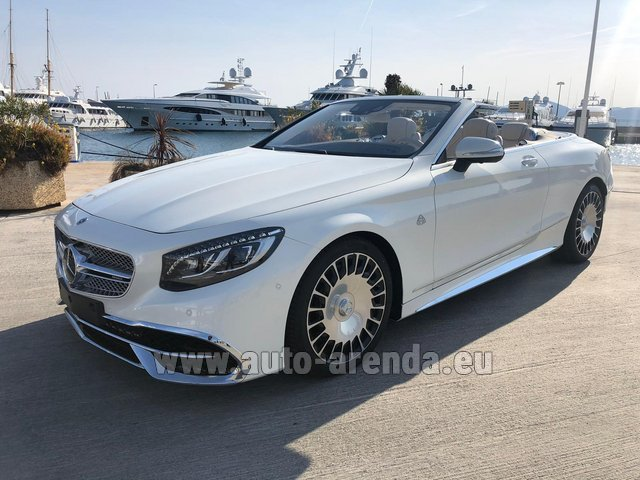 Hire and delivery to Grenoble Isère Aéroport (GNB) the car Maybach S 650 Cabriolet, 1 of 300 Limited Edition