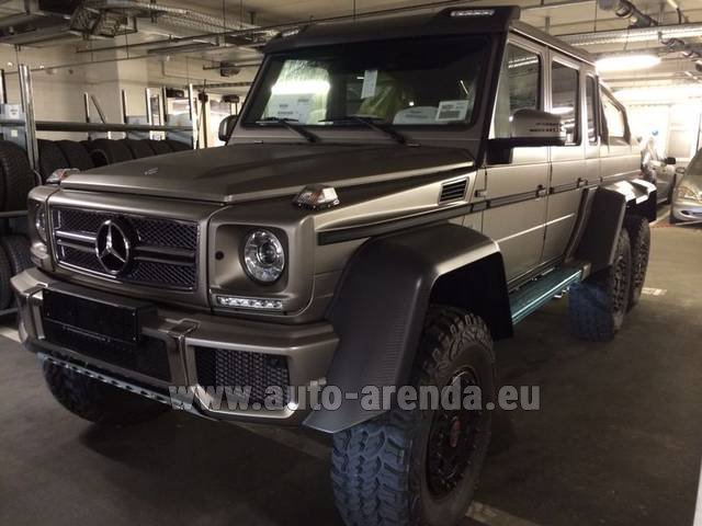 Rental Mercedes-Benz 6x6 AMG 6.3 in Courchevel