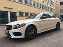 Rent-a-car Mercedes-Benz C-Class C43 AMG Biturbo 4MATIC White with its delivery to Genève Aéroport (GVA), photo 1