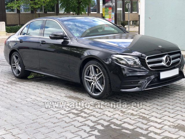Hire and delivery to Aéroport Lyon-Saint Exupéry (LYS) the car Mercedes-Benz E 450 4MATIC saloon AMG equipment