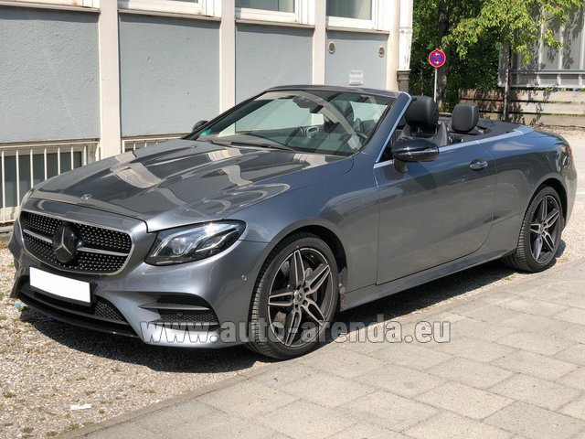 Hire and delivery to Genève Aéroport (GVA) the car Mercedes-Benz E 450 Cabriolet AMG equipment