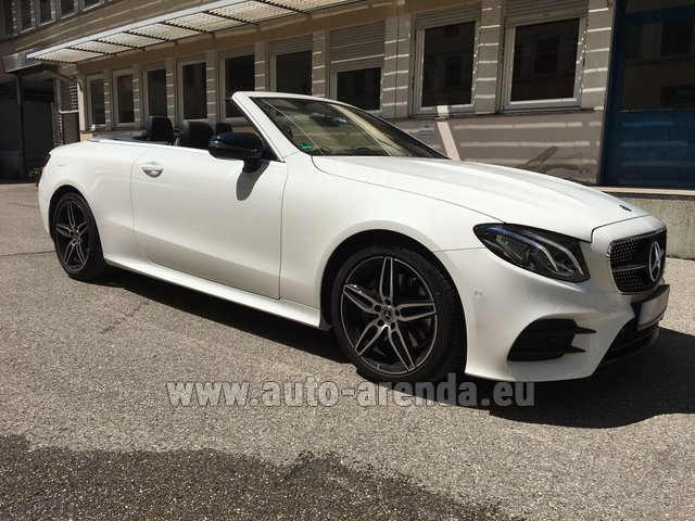 Hire and delivery to Grenoble Isère Aéroport (GNB) the car Mercedes-Benz E-Class E 200 Cabrio