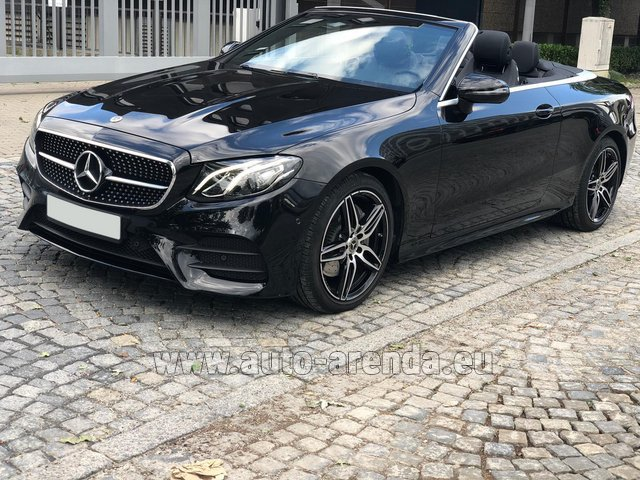 Hire and delivery to Genève Aéroport (GVA) the car Mercedes-Benz E-Class E220d Cabriolet AMG equipment