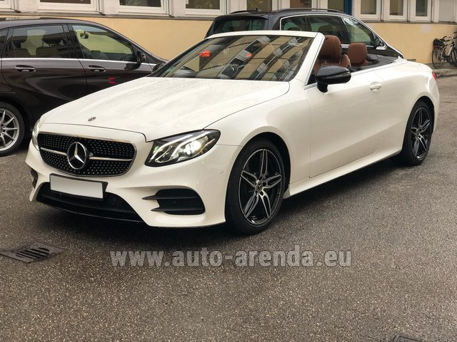 Hire and delivery to Genève Aéroport (GVA) the car Mercedes-Benz E-Class E300d Cabriolet diesel AMG equipment