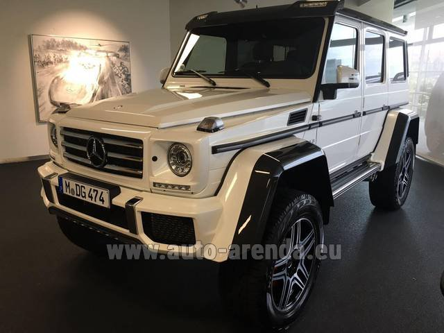 Rental Mercedes-Benz G 500 4x4 White in Courchevel