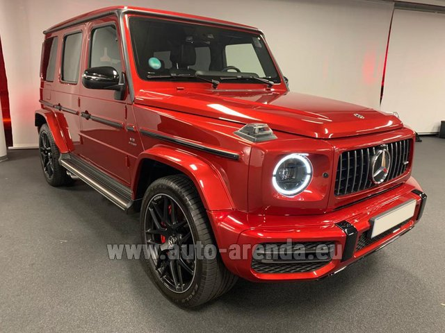 Hire and delivery to Genève Aéroport (GVA) the car Mercedes-Benz G 63 AMG biturbo