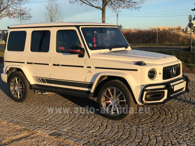 Hire and delivery to Genève Aéroport (GVA) the car Mercedes-Benz G 63 AMG White
