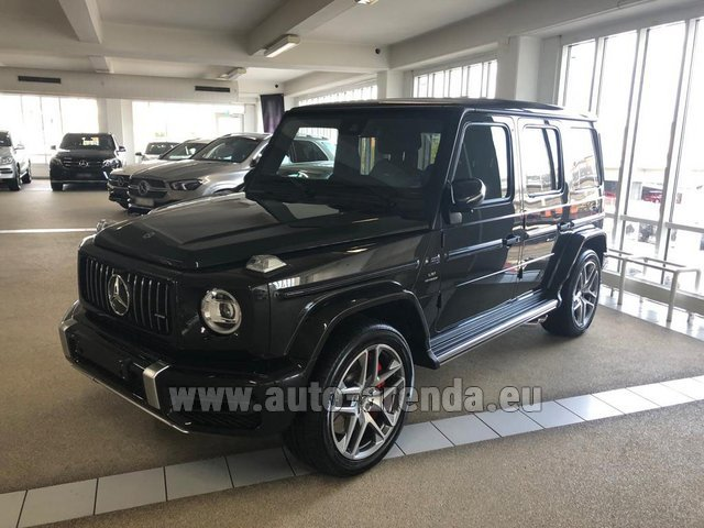 Hire and delivery to Genève Aéroport (GVA) the car Mercedes-Benz G63 AMG V8 biturbo