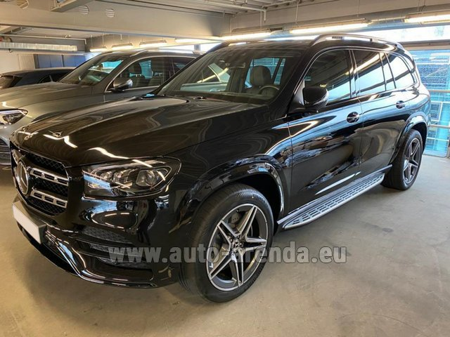 Hire and delivery to Genève Aéroport (GVA) the car Mercedes-Benz GLS 400d BlueTEC 4MATIC equipment AMG