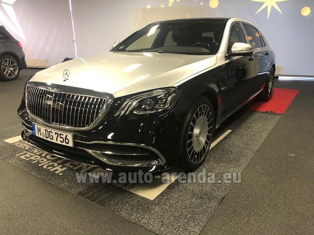 Rental Maybach S 560 4MATIC AMG equipment Metallic and Black in Courchevel