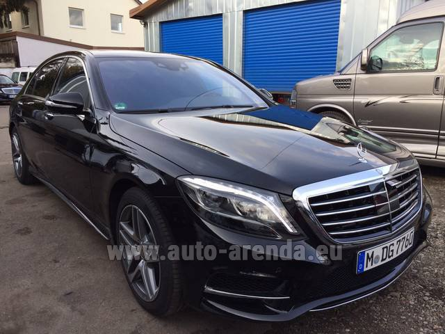 Hire and delivery to Aéroport Chambéry Savoie Mont Blanc (CMF) the car: Mercedes-Benz S 350 L BlueTEC AMG
