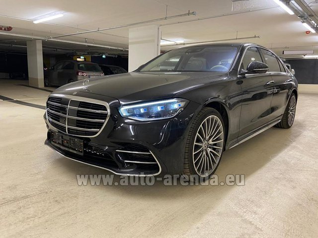 Hire and delivery to Aéroport Lyon-Saint Exupéry (LYS) the car Mercedes-Benz S 500 4MATIC Sedan long