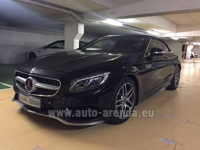 Rental Mercedes-Benz S 500 Cabrio Black in Courchevel