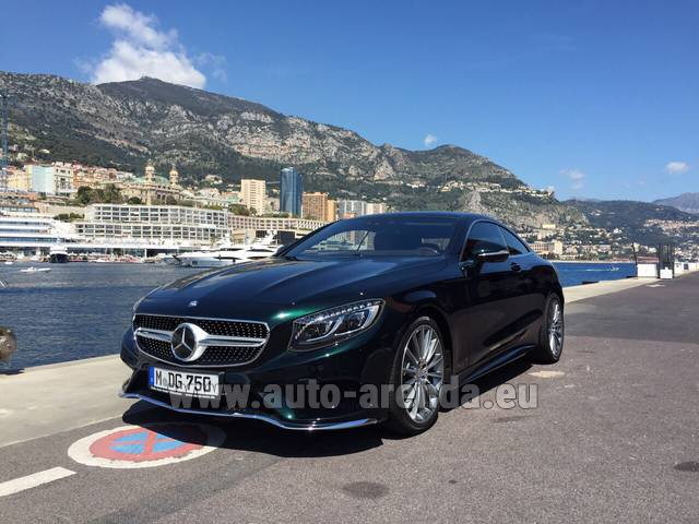 Rental Mercedes-Benz S 500 Coupe 4Matic 7G-TRONIC AMG in Courchevel
